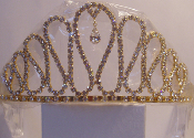 Teardrop Crystal Tiara Available in Gold or Silver