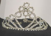 Ornate Floral Crystal Tiara