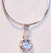 1 Ct Solitaire CZ Necklace