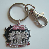 Betty Boop Crystal Key Chain Holder