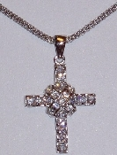 Sterling Silver CZ Crosses