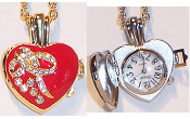Heart Shaped Watch Pendant