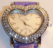 Heart Shaped Crystal Watch