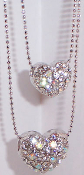 Heart Necklace with Swarovski Crystals 50 percent off