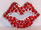 Lips Pin with Swarovski Crystals