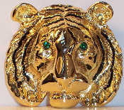 Lion Pin with Swarovski Crystals