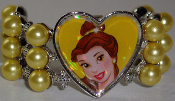 Clip On Pony Tail Belle 1 Disney Princess Tiaraz™ - Heart and Pearls