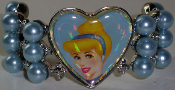 Clip On Pony Tail Cinderella 1 Disney Princess Tiaraz™ - Heart and Pearls