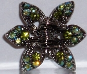 Crystal Claw Pair 6 Point - Peridot