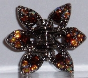 Crystal Claw Pair 6 Point - Topaz