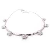 Diamond Star Necklace with Crystals