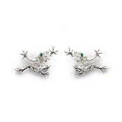 Frog Earrings-Crystal Magnetic