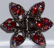 Crystal Claw Pair 6 Point - Ruby