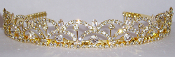 Gold Crystal Tiara