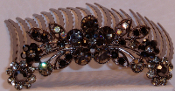 Crystal Hair Comb Flowers Marcasite