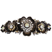 5 Flower Crystal Barrette