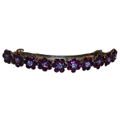 Flower Crystal Barrette Amethyst