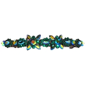 Large Crystal Barrette Emerald