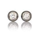 CZ Magnetic Therapy Earrings-Silver