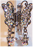 Butterfly Dangle Clip. Available in Crystal, Sapphire and Topaz